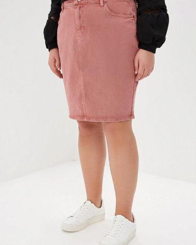 Розовая джинсовая юбка Lost Ink Plus