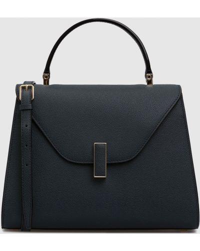 Кожаная синяя кожаная сумка Valextra
