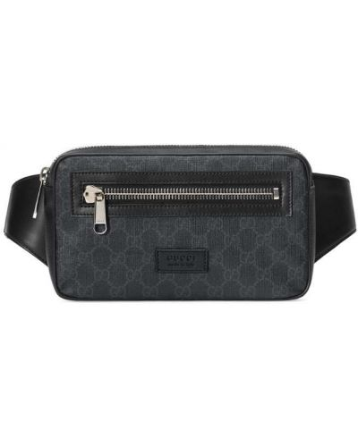 Кожаная сумка на молнии поясная Gucci