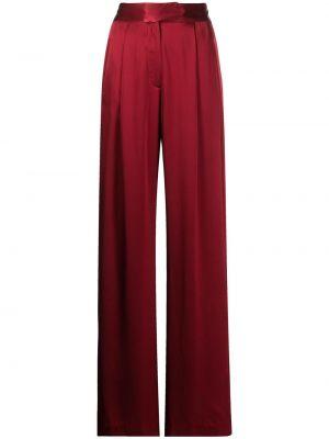 Брюки с завышенной талией - красные Michelle Mason