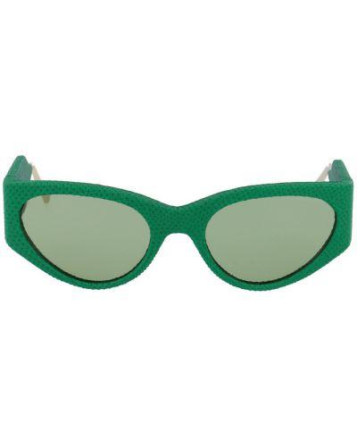 Zielone okulary Salvatore Ferragamo