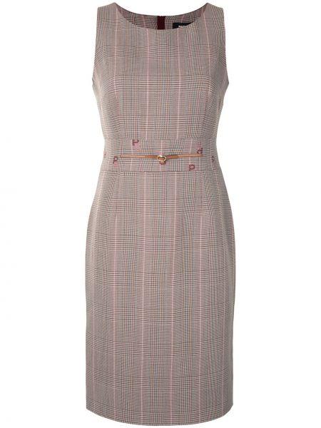 Коричневое платье без рукавов с вырезом на молнии Paule Ka
