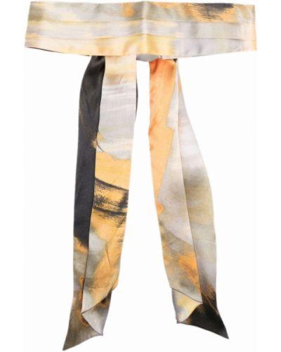 Шелковая повязка на голову - желтая Eugenia Kim