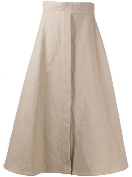 Beżowy bielizna z wysokim stanem spódnica z kieszeniami Lemaire