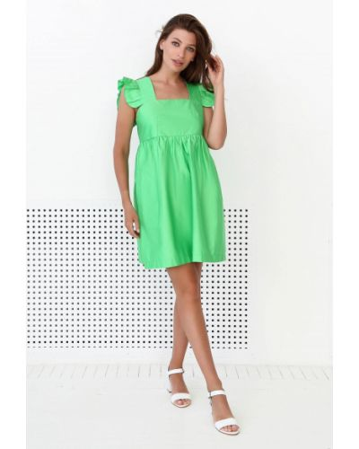 Хлопковое платье - зеленое Nenka