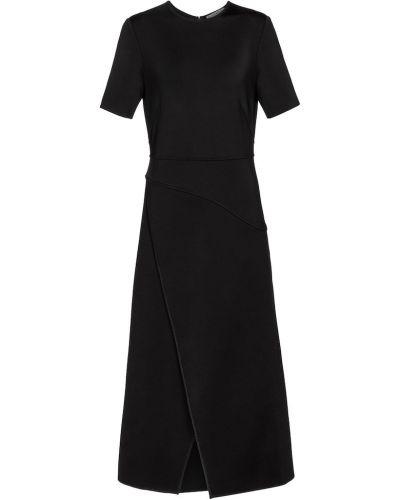 Czarny sukienka midi z wiskozy Givenchy