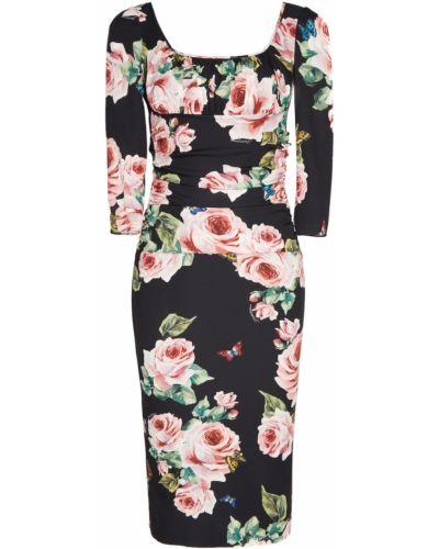 Платье футляр с драпировкой Dolce&gabbana