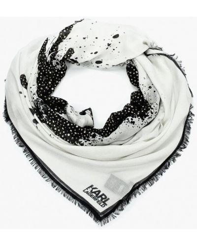 Платок белый Karl Lagerfeld