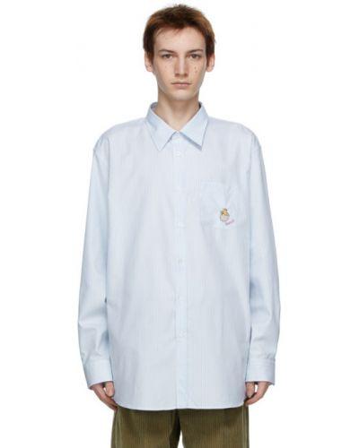 Bawełna z rękawami koszula w paski Gucci