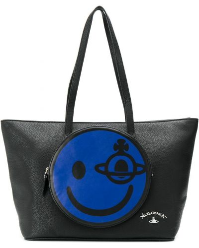 Черная кожаная сумка Vivienne Westwood Pre-owned