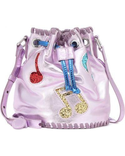 Karmazynowy torba z brokatem Stella Mccartney Kids