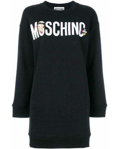 Платье длинное хлопковое Moschino