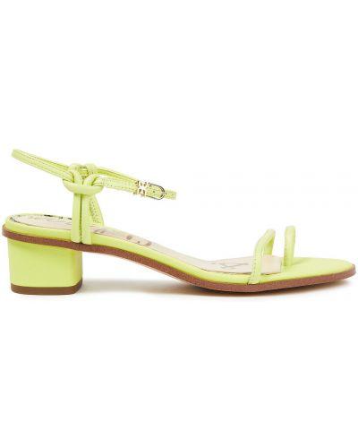 Zielone sandały z klamrą Sam Edelman