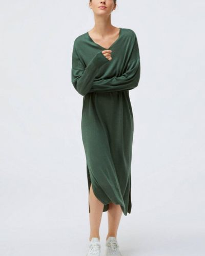 Зеленое прямое платье Oysho
