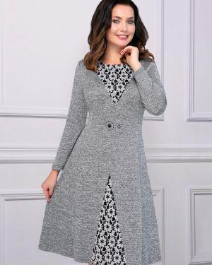 Деловое платье серое платье-сарафан Charutti