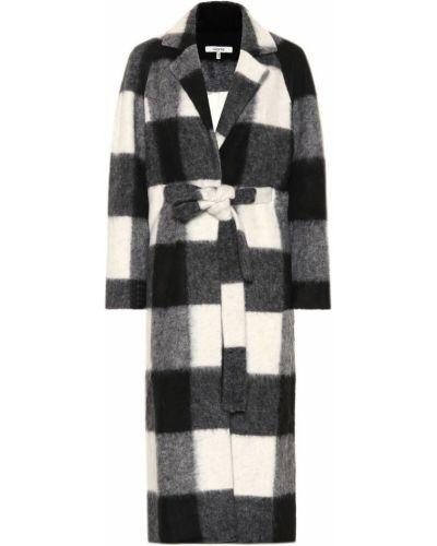 Шерстяное белое длинное пальто Ganni