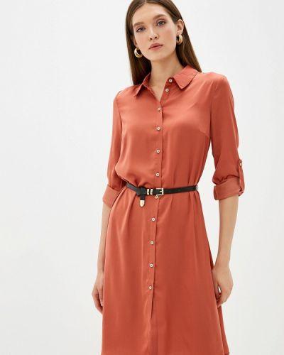 Платье коралловый платье-рубашка Love Republic