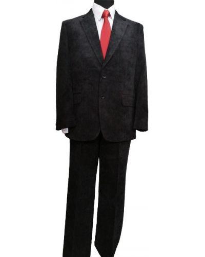 Костюмный черный велюровый костюм West Fashion
