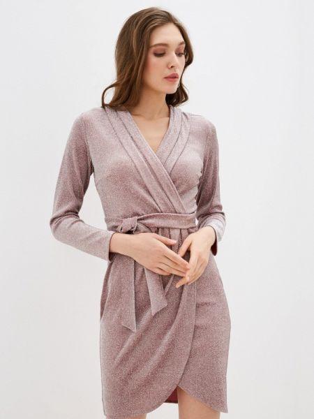 Вечернее платье розовое осеннее Trendyangel
