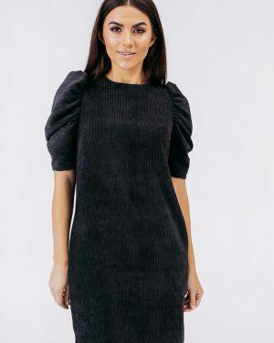 Платье прямое черное Bessa