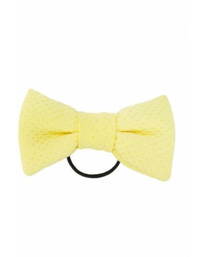 Желтая резинка для волос на резинке с бантом Wauw Capow