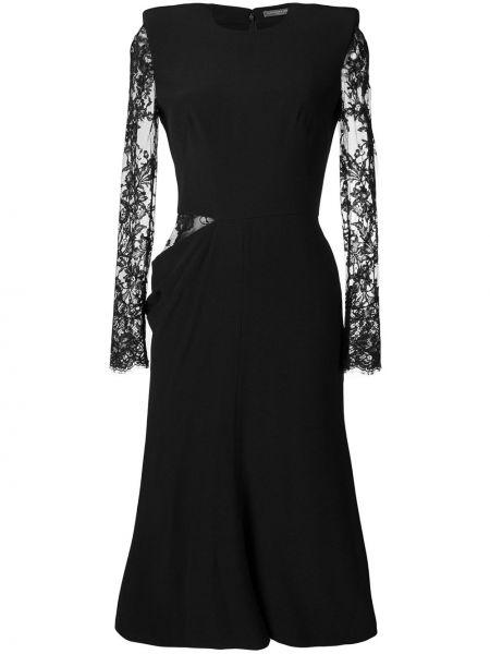 Платье миди на молнии шелковое Alexander Mcqueen