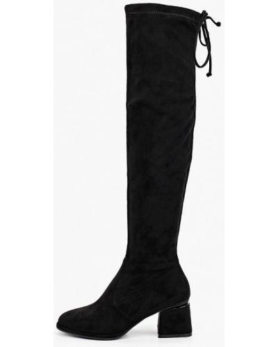 Текстильные ботфорты - черные Diora.rim