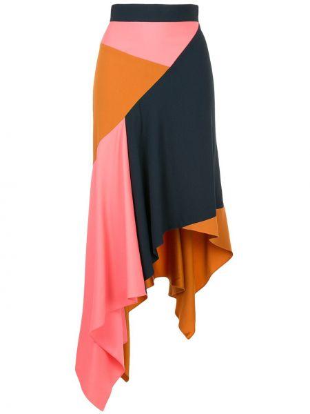 Шерстяная асимметричная с завышенной талией юбка Peter Pilotto