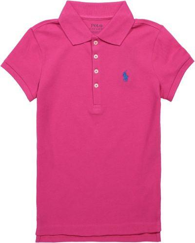 Różowa koszula bawełniana Polo Ralph Lauren Kids