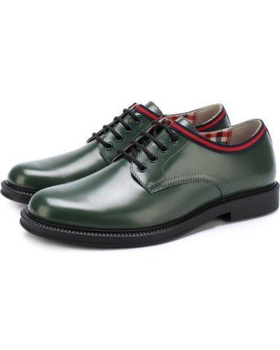 Зеленые туфли Gucci