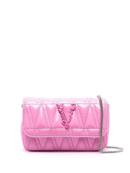 Стеганая розовая кожаная косметичка Versace