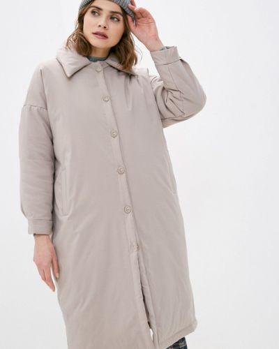 Бежевая утепленная куртка Imocean