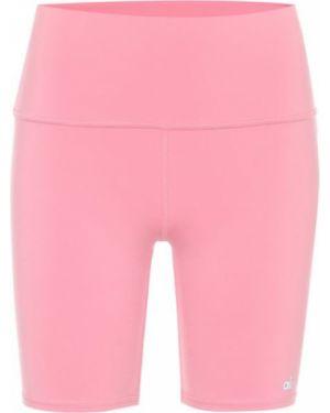 Różowe szorty z nylonu Alo Yoga