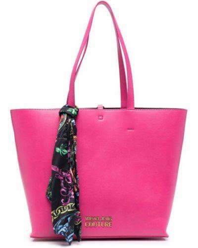 Różowa poszetka Versace Jeans Couture