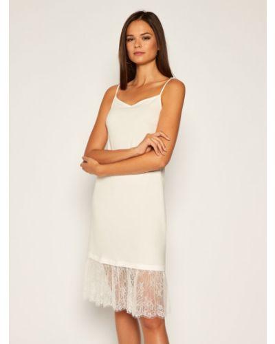 Biała sukienka koktajlowa Twinset