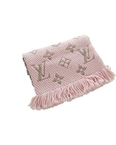 Różowy szalik wełniany Louis Vuitton Vintage