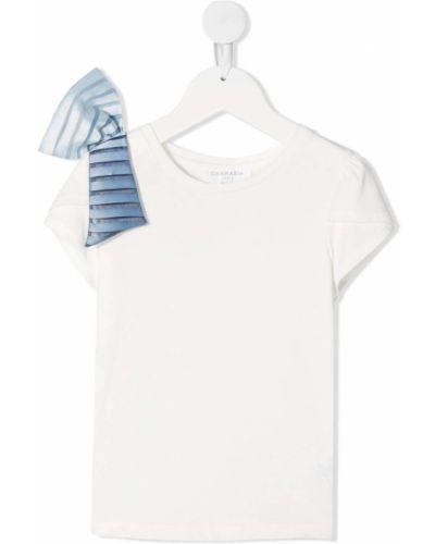 Niebieski t-shirt bawełniany oversize Charabia