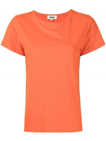 Pomarańczowa t-shirt bawełniana Ymc