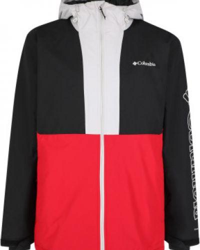 Прямая утепленная красная куртка Columbia