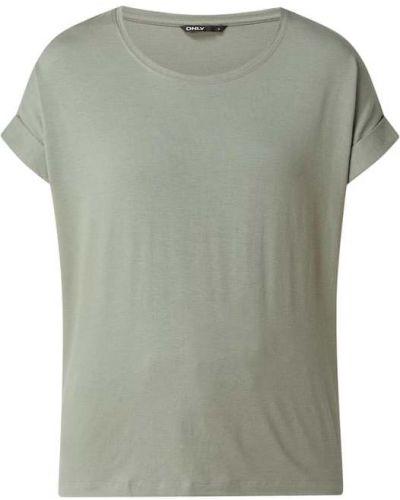 Zielona t-shirt krótki rękaw z wiskozy Only