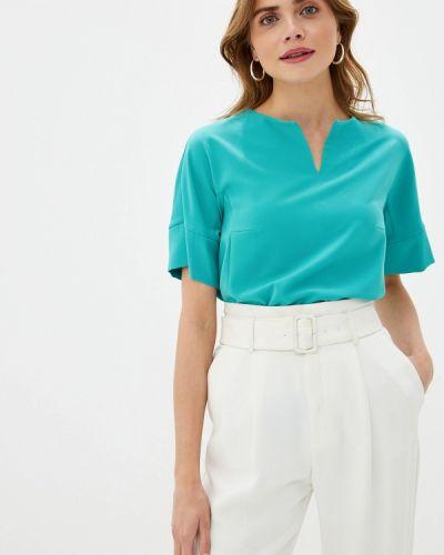 Блузка с коротким рукавом бирюзовая весенний Grafinia