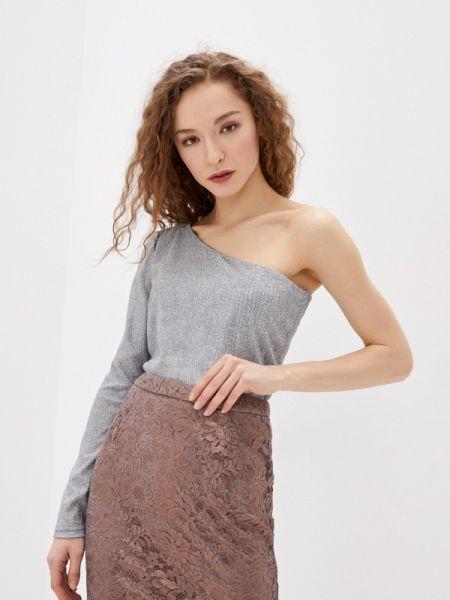 Клубная серебряная блузка с длинным рукавом Concept Club