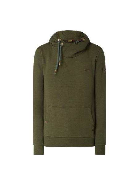 Bawełna bawełna zielony bluzka z kieszeniami Ragwear