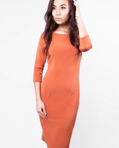 Оранжевое платье весеннее Sfn