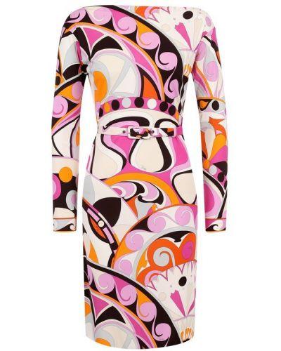 Платье миди мини с длинными рукавами Emilio Pucci