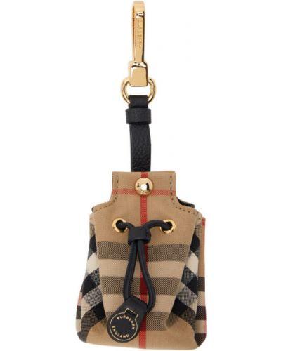 Bawełna ze sznurkiem do ściągania czarny brelok z płótna Burberry