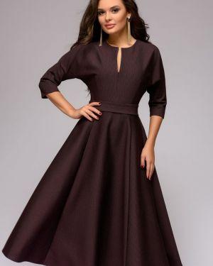 Повседневное платье с декольте с поясом 1001 Dress