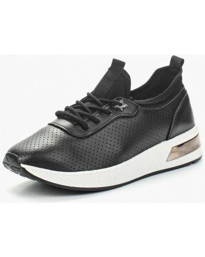 Черные кроссовки из искусственной кожи Saivvila