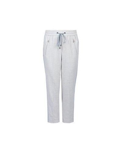 Укороченные брюки со стрелками шерстяные Peserico