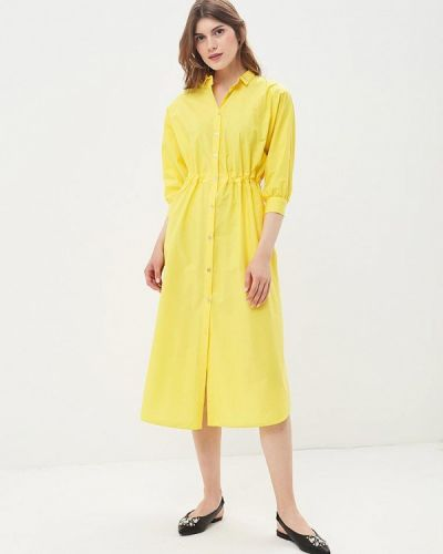 Желтое платье с длинными рукавами Imperial